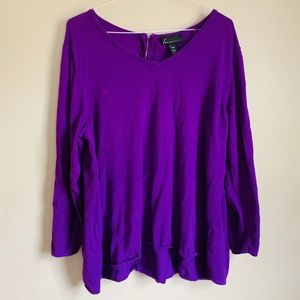 Lane Bryant size 26/28 lightweight purple sweater